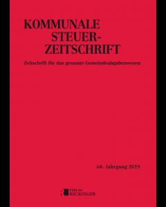 Kommunale Steuer-Zeitschrift – Einbanddecke