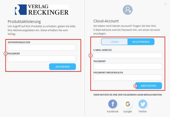 Registrierung für den Cloud-Account